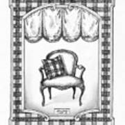 French Country Fauteuil Art Print