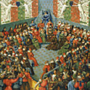 French Court, 1458 Art Print