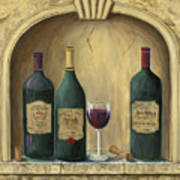 French Estate Wine Collection Art Print