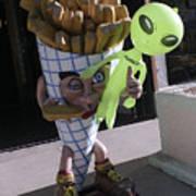 French Fried Alien Art Print