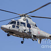 French Navy As565 Panther Helicopter Art Print