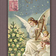 French Noel Postcard Art Print