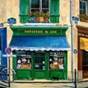French Pastry Shop Art Print by Marilyn Dunlap