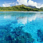 French Polynesia, View Art Print
