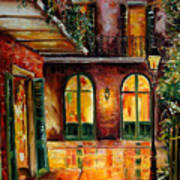 French Quarter Alley Art Print