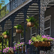 French Quarter Sunlit Balcony - New Orleans Art Print