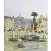French View Of Honfleur Art Print