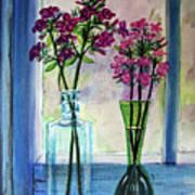Fresh Cut Flowers In The Window Art Print