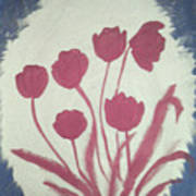 Fresh Flowers- 1st In Series-morning Shadow Art Print