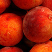 Fresh Fuzzy Peaches Art Print