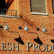Fresh Produce Signage Art Print