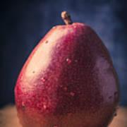 Fresh Ripe Red Pear Art Print