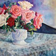 Fresh Roses Art Print