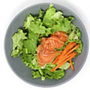 Fresh Seafood Salad With Smoked Salmon Art Print