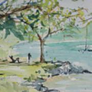 Fresh Spring On West Bay Art Print