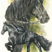 Friesian Art Print