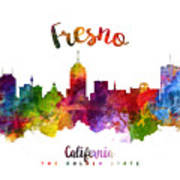 Fresno California Skyline 23 Art Print