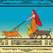 Freya Norse Goddess Art Print by Aloysius Patrimonio