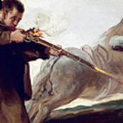 Friar Pedro Shoots El Maragato As His Horse Runs Off Art Print