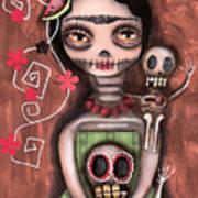 Frida Day Of The Dead Art Print