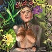Frida De Ophelia Art Print
