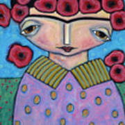 Frida In The Blooms Art Print
