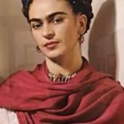 Frida Kahlo Live Art Print