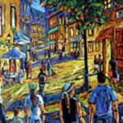 Friday Night Walk Prankearts Fine Arts Art Print