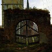 Friedrich Caspar David The Cemetery Gate Art Print
