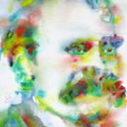 Friedrich Nietzsche - Watercolor Portrait.10 Art Print