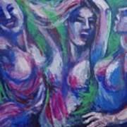Friends - Girls Clubbing  Art Print