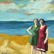 Friends On The Beach Art Print