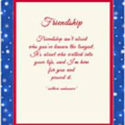 Friendship Poem Art Print