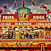 Fries Nachos Dogs Art Print