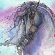 Friesian Horse 2015 12 24 Art Print
