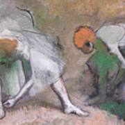 Frieze Of Dancers Art Print by Edgar Degas