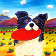 Frisbee Dog Art Print by Harriet Peck Taylor