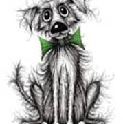 Frizzy Dog Art Print