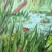 Frog Went A-courtin Art Print
