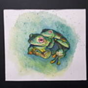 Frogs Of Borneo L Art Print