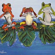 Frogs Without Sense Art Print