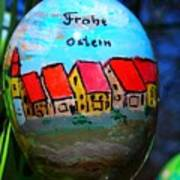 Frohe Ostern Art Print