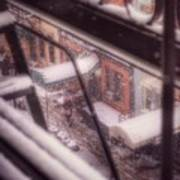 From My Window - Braving The Snow Art Print