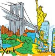 From Old To New York Art Print