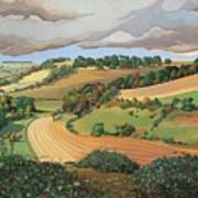 From Solsbury Hill Art Print by Anna Teasdale