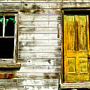 Front Door To An Old Abandoned House. Art Print