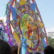 Mayans And Conquistador Giant Kite Art Print
