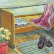 Front Porch Shoes Art Print