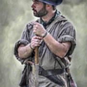 Frontiersman Ranger Scout Portrait Art Print by Randy Steele