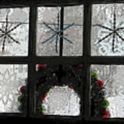 Frosted Windowpanes Art Print